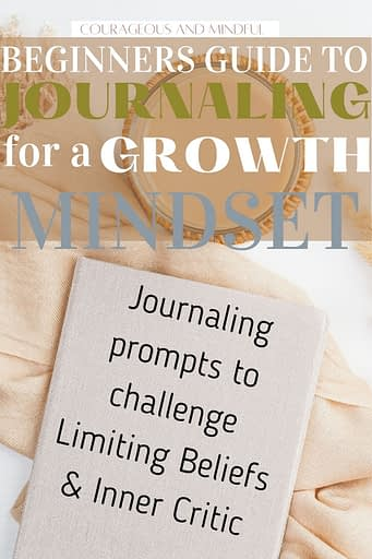 Beginner's journaling guide for a growth mindset.